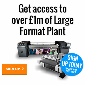 Access over 1 million pounds worth of Wide Format Print Plant and Equipment.