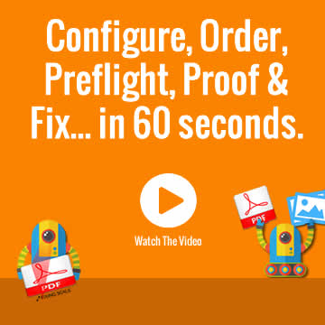 Watch us Configure, Proof, Fix and Order Large Format Trade Print within 60 seconds.