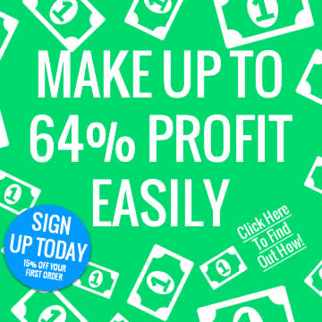 Make up to 64% profit by selling large format trade print!